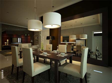Open Plan Dining Room Inspiration Modern