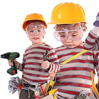 Teach kids about power tool safety