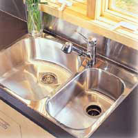 Install a new kitchen sink and tap