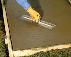 Lay a concrete slab