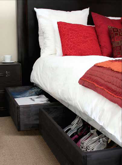 bed base storage