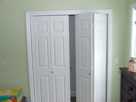 Home Dzine Home Improvement Install Bi Fold Closet Doors