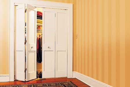HOME DZINE Bedrooms | Install bi-fold doors on a closet