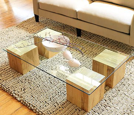 Glass Top Coffee Table DIY