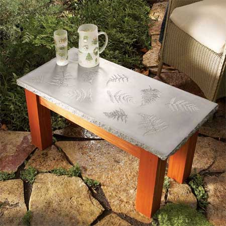 Home Dzine Home Diy Concrete Garden Table