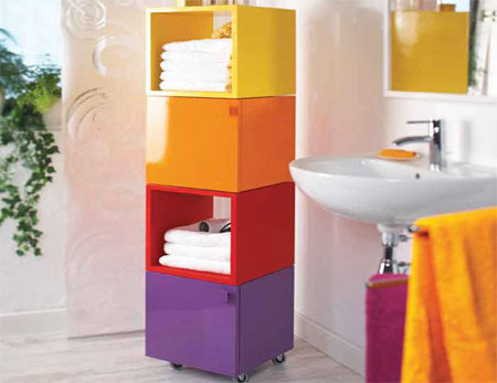 Bathroom storage cubes