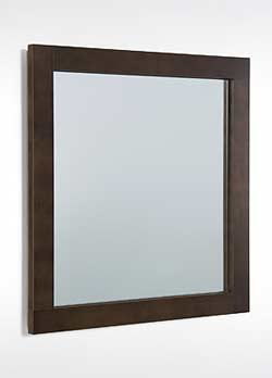 Mirror With Sophisticated Wood Frame