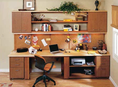 Build A Do It Yourself Compact Home Office Centre With A Desktop And  Swing Out Work Area, Plenty Of Drawers And Storage, Open Bookshelves, A  Large Bulletin ...