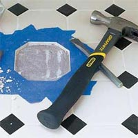 How to replace a cracked or broken tile