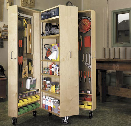 HOME DZINE Home DIY | Mobile storage unit for a garage