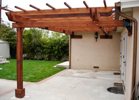 BELOW Doric Columns Are The Supports For This Pergola And Result Is A Dramatic Garden Feature That Enhances Outdoor Dining Entertaining