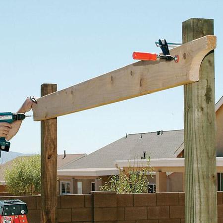 Pergola timber posts