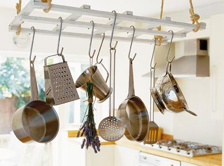 Make A Hanging Pot Rack