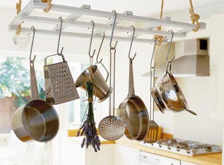 HOME DZINE Home DIY | Make a hanging pot rack