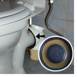 Leaky toilet repair
