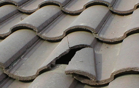 How to repair cracked roof tiles
