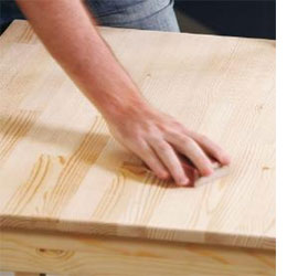 Home Dzine Diy How To Stain A Seal Raw Pine Table