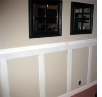 Dress up a wall with moulding and trim