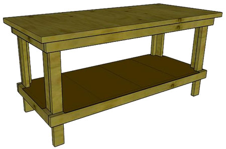 plans building a simple workbench