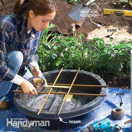 Home Dzine Garden Make A Concrete Water Fountain