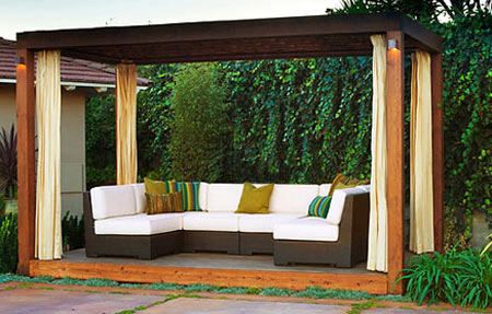 Modern Garden Gazebo : HOME DZINE Garden  Beautiful outdoor spaces