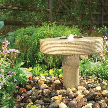 Home Dzine Garden Make A Concrete Water Fountain