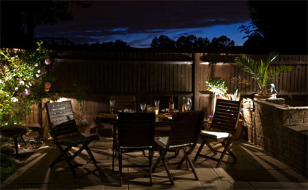 Create a night time garden