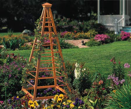 Wood Obelisk Trellis Plans