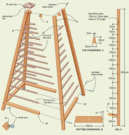 plans for wooden obelisk