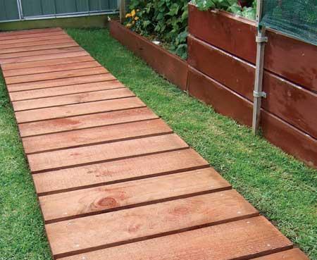 home dzine garden ideas garden boardwalk with style. Black Bedroom Furniture Sets. Home Design Ideas