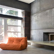 Home design set in concrete
