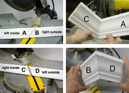 HOME DZINE Home Improvement   Easy way to install crown moulding