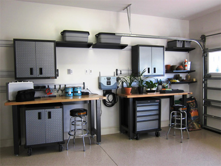 For Any Homeowner Who Uses Their Garage As A Workshop Practical Option Is To Install Shelves And Cabinets Down The Side Or At One End Of
