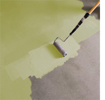 Stain or paint a concrete floor