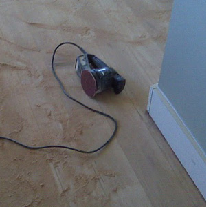 sand and seal a wooden floor