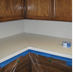 Is Countertop Paint Durable : HOME DZINE Kitchen How to paint kitchen countertops