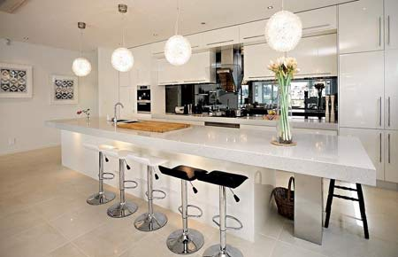 Home dzine kitchen the kitchen island makes a comeback Kitchen designs with islands modern
