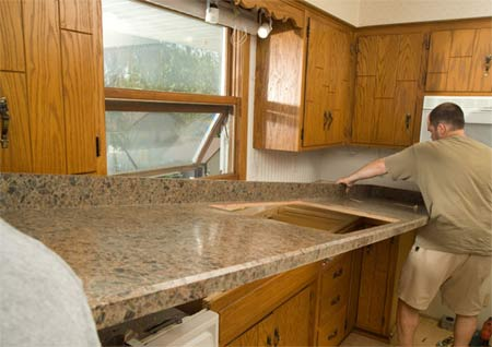 Kitchen Countertops on Home Dzine   Replace Kitchen Countertop