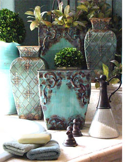 Home dzine kitchen french country or traditional style for Bathroom decor vases