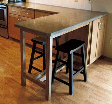 HOME DZINE Kitchen Build A Countertop Extension