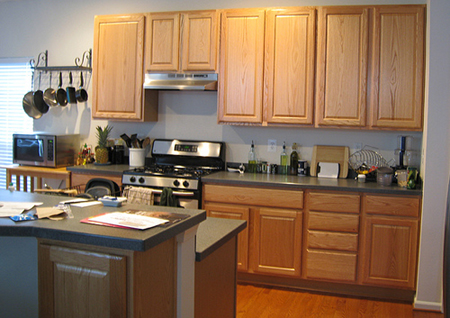 Home dzine kitchen should you paint kitchen cabinets for Cheap kitchen cupboards
