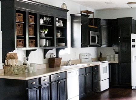Maple Glazed Antique White Kitchen Cabinets Cherry Island :Caca's ...