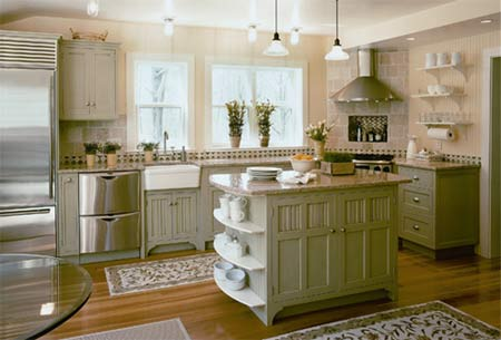 outdated kitchen cabinets. an outdated kitchen and