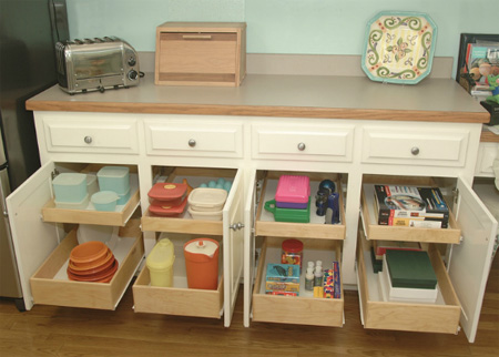 Pull Out Storage Drawers Kitchen Cabinets