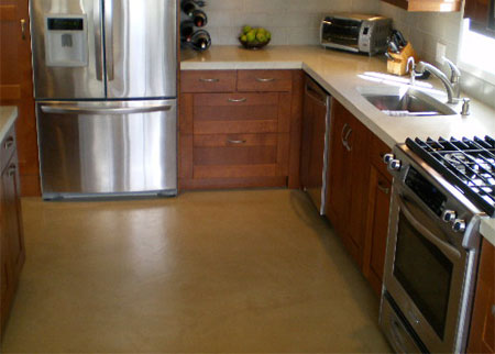 HOME DZINE Kitchen | Self-levelling cement screed floor